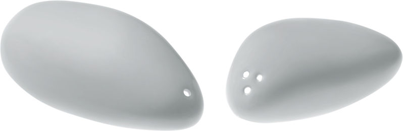 Alessi colombina collection personal salt and pepper shakers for Alessi salt and pepper shakers