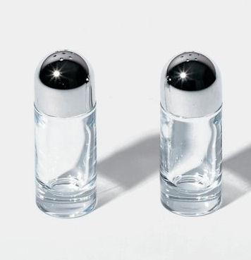 Alessi Classic Salt And Pepper Castors Set By Ettore Sottsass