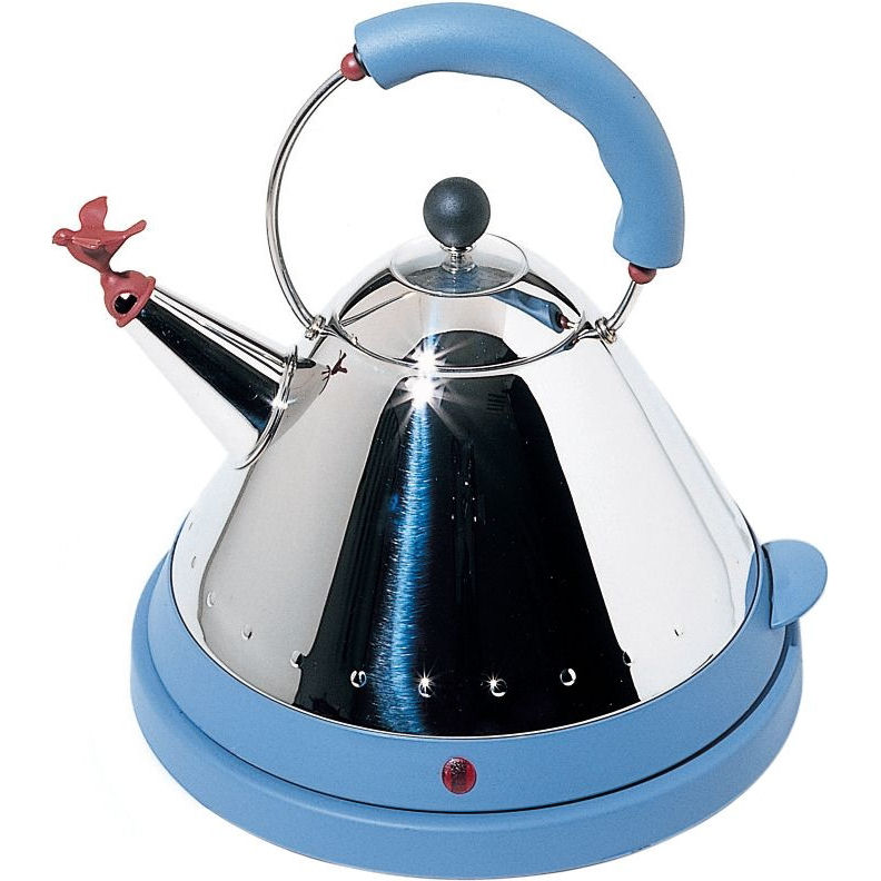 Alessi Blue Electric Kettle By Michael Graves