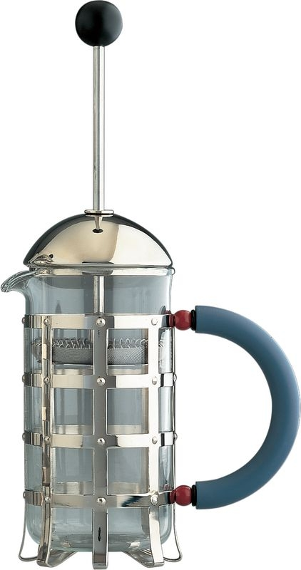 Alessi Cafetiere By Michael Graves 3 Cup Blue