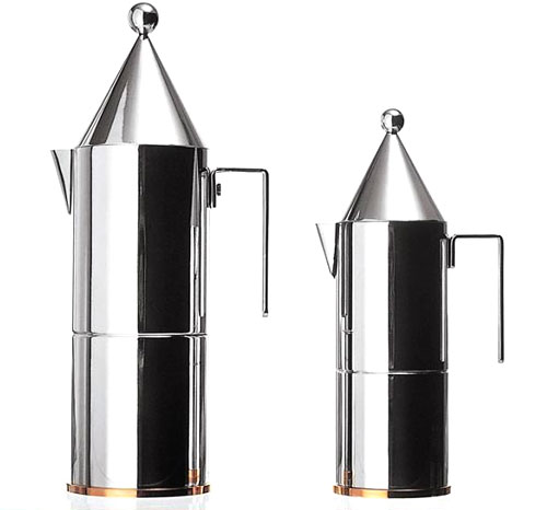 Alessi Espresso Maker Pot La Conica 3 Cup By Aldo Rossi