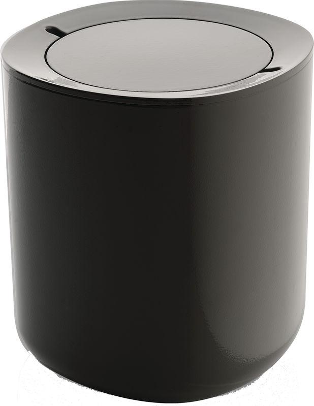 Alessi birillo bathroom waste bin in grey by piero lissoni for Grey bathroom bin