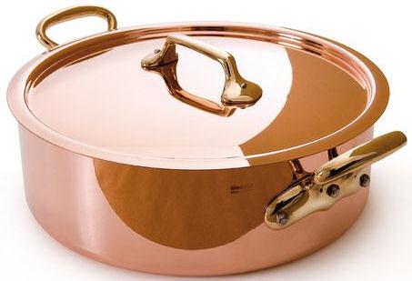 Mauviel 250b Copper Saute Casserole And Lid 28cm
