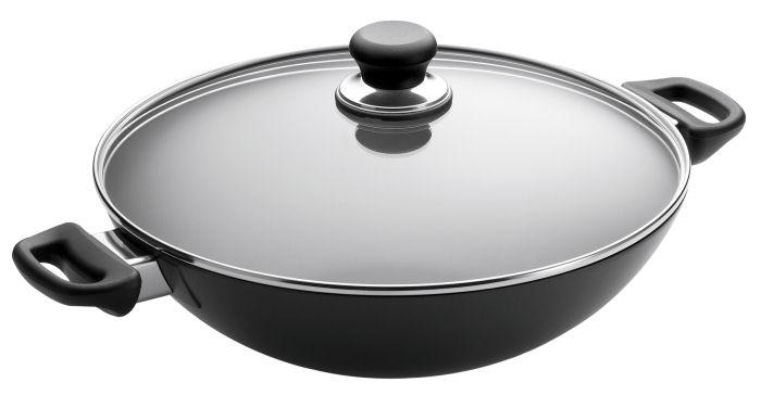 Scanpan Wok Chef Pan 32cm With Lid Durable Titanium Non