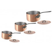 Mauviel 150C Copper Saucepan Set with Lids