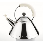 Alessi Bird Kettle with Whistle White Hob Kettle 9093 W