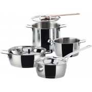 Alessi 7 Piece Pan Set by Jasper Morrison