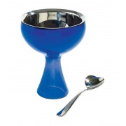 Alessi Big Love Ice Cream Bowl and Spoon in Blue by Mirriam Mirri