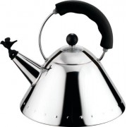 Alessi Bird Kettle with Whistle Black Hob Kettle 9093 B
