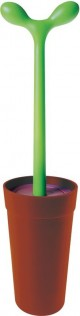 Alessi Toilet Brush - Merdolino in Brown<br>by Stefano Giovannoni