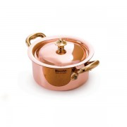Mauviel Mini Copper Casserole 9cm with Lid - with cast bronze handle.