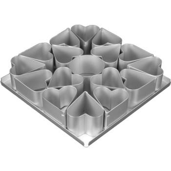 Alan Silverwood Multi Mini Cake Tinheart Cake Tin Set